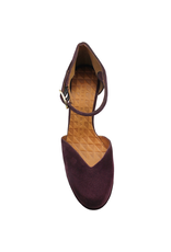 ChieMihara ChieMihara Grape Suede Buckled Two Piece Shoe JoMaho