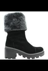 Gadea Gadea Black Suede Grey Fur Lined Hier Boot Tread Sole 5160