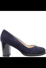 Gadea Gadea Blue Suede/ Blue Patent Heel V Pump 5182