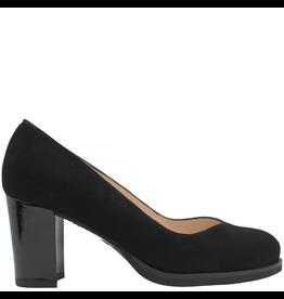 Gadea Gadea Black Suede Black Patent Heel V Pump 5182