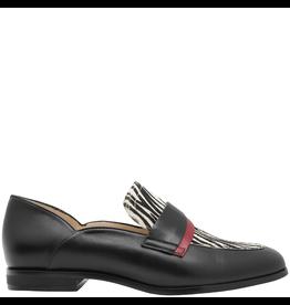 Gadea Gadea Black Loafer With Zebra Detail 5162
