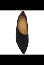 ChieMihara ChieMihara Black Suede Asymmetric Pump Python Heel Loa