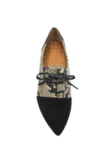 ChieMihara ChieMihara Black Calf/Python Lace-Up Shoe Roly