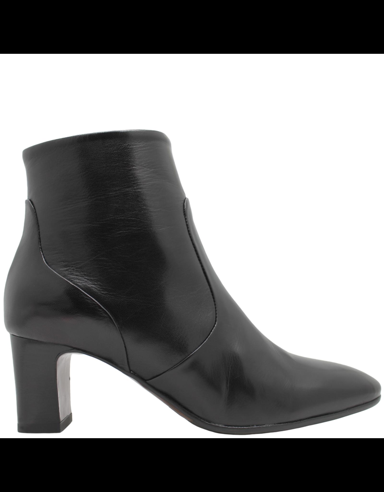MaraBini MaraBini Black Nappa Side Zipper Ankle Boot 7395