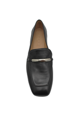 MaraBini MaraBini Black Nappa Loafer With Metal Bar 7396