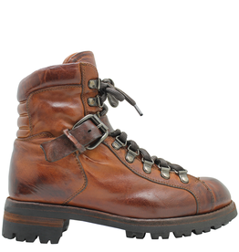 LeMargo LeMargo Cognac Hiker Boot With Side Zipper 2290