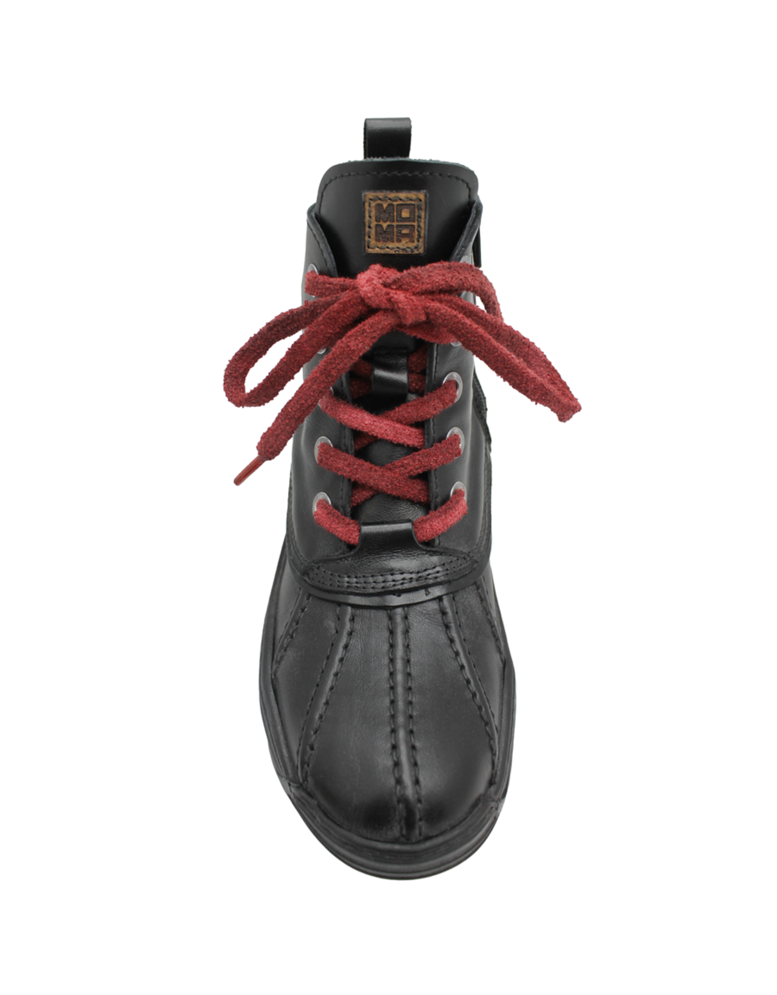 Moma Moma Black Red Lace-Up Sneaker 9089