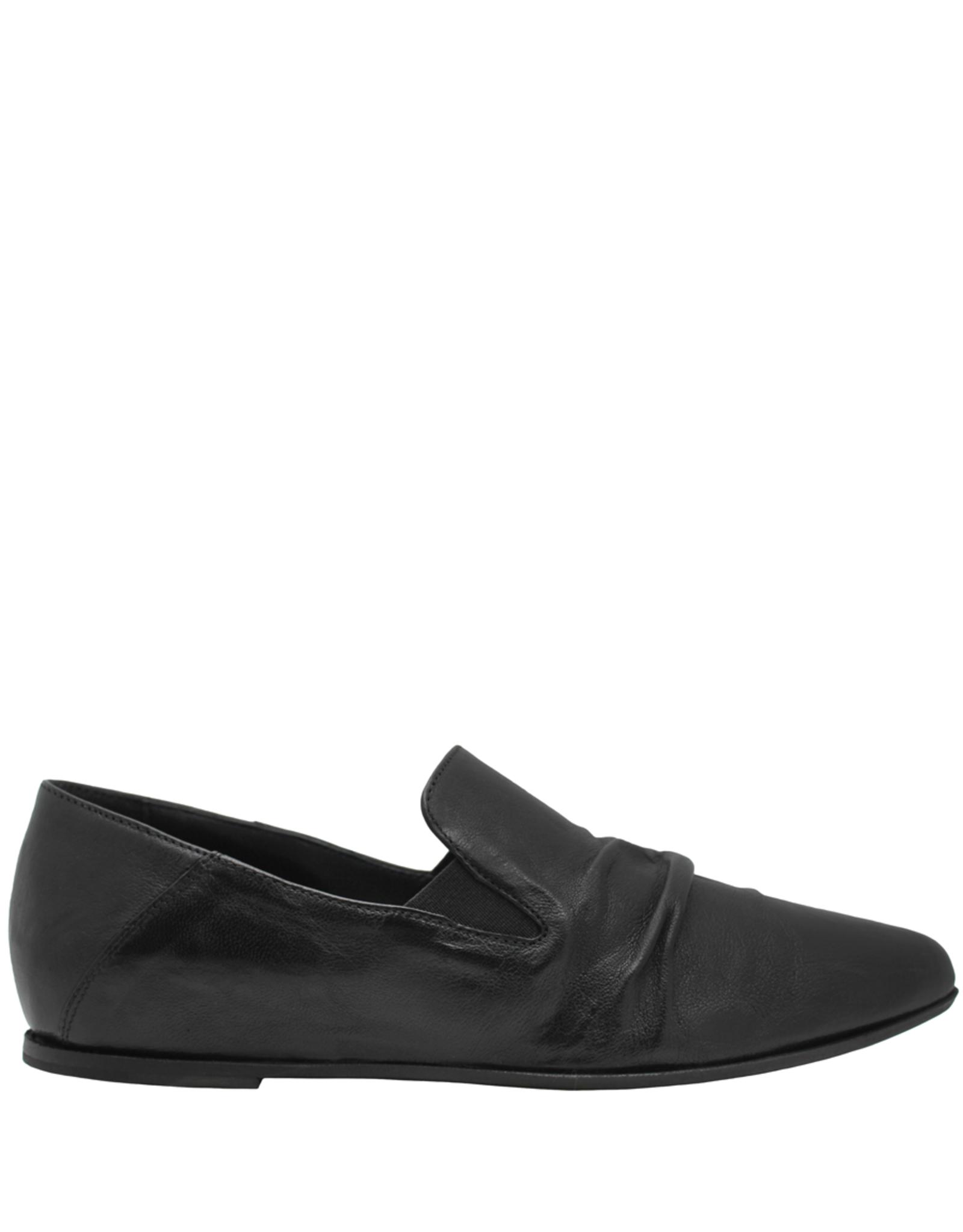 Ink Black Ruched Loafer 4736