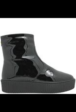 PalmrothOriginal PalmrothOriginal Black Patent Black Wedge Side Zip Waterproof 8300