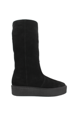 PalmrothOriginal PalmrothOriginal Black Suede Shearling Waterproof Wedge 8403