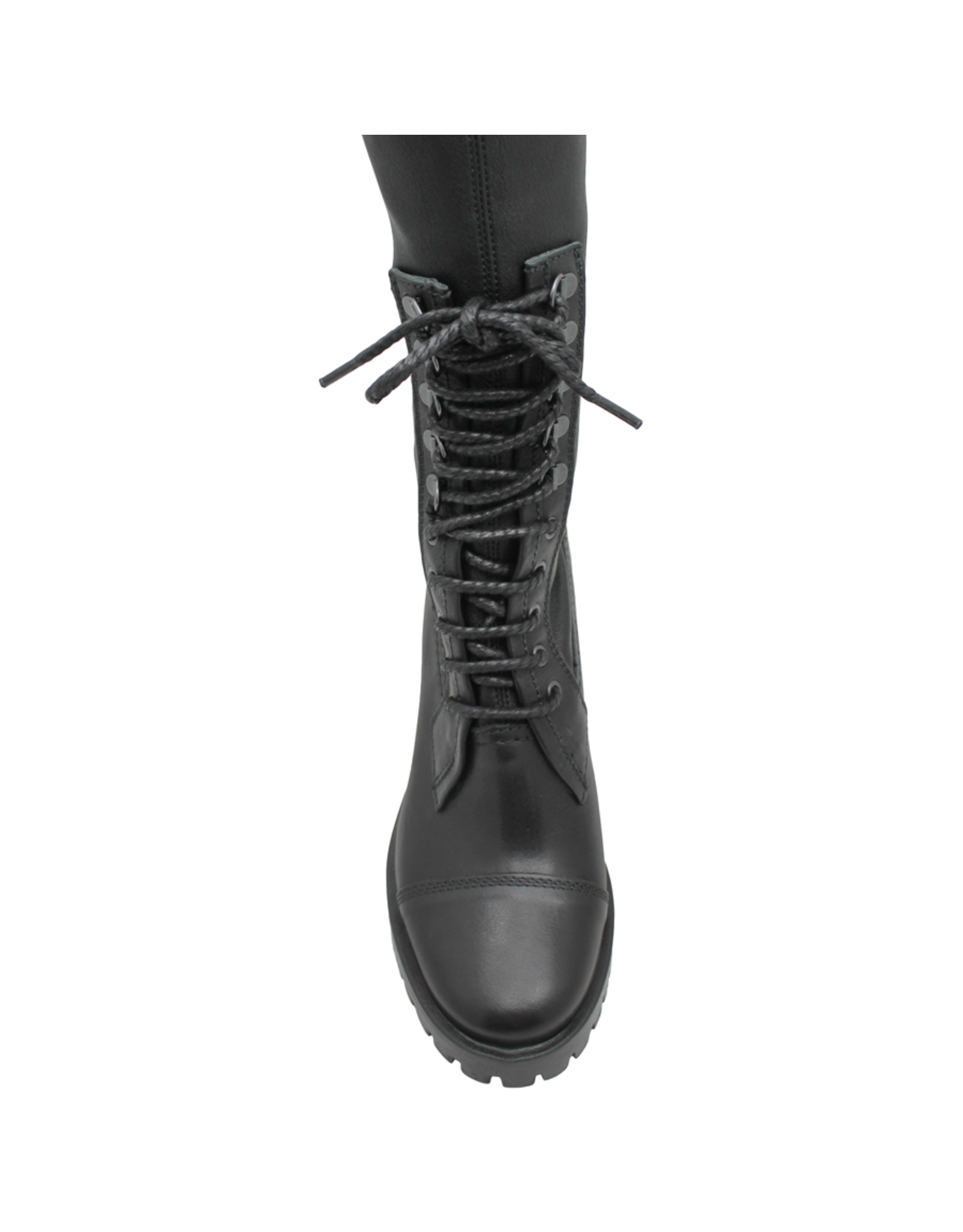 Now Now Black Lace-Up Stretch Knee Boot 6010