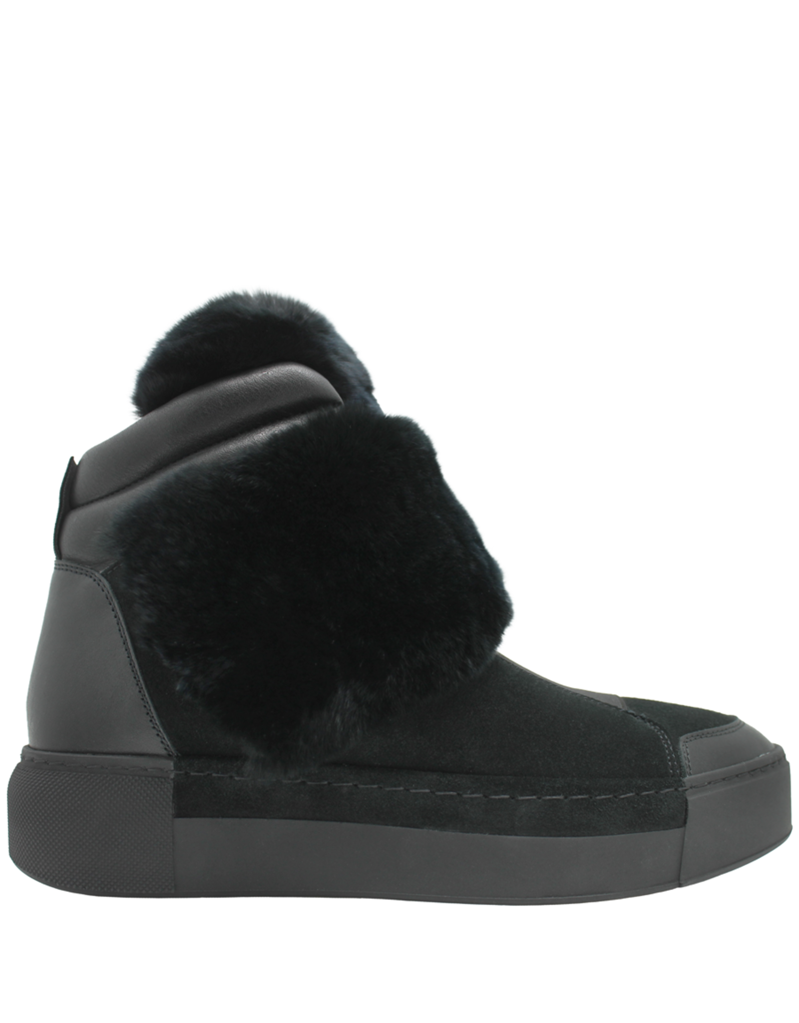 VicMatie VicMatie Black Suede With Fur and Shearling Lined Sneaker 7772