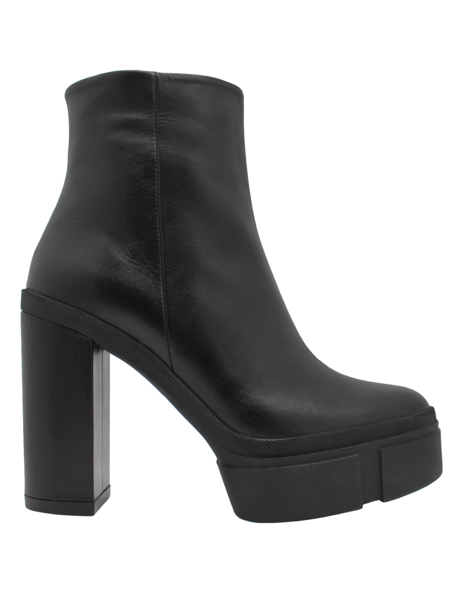 VicMatie VicMatie Black Platform Ankle Boot With Side Zipper 7878