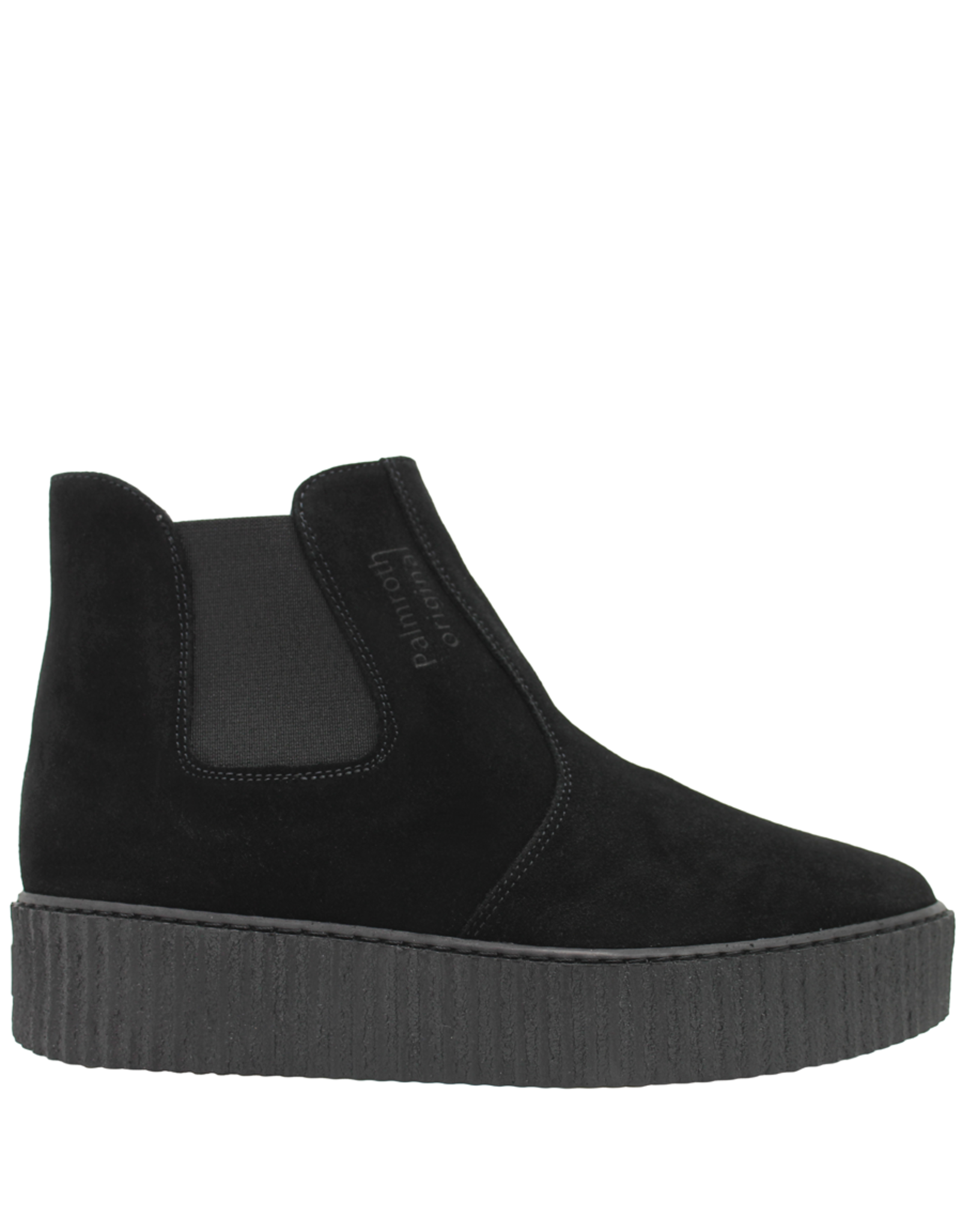 PalmrothOriginal PalmrothOriginal Black Suede Waterproof Chelsea Wedge 8318