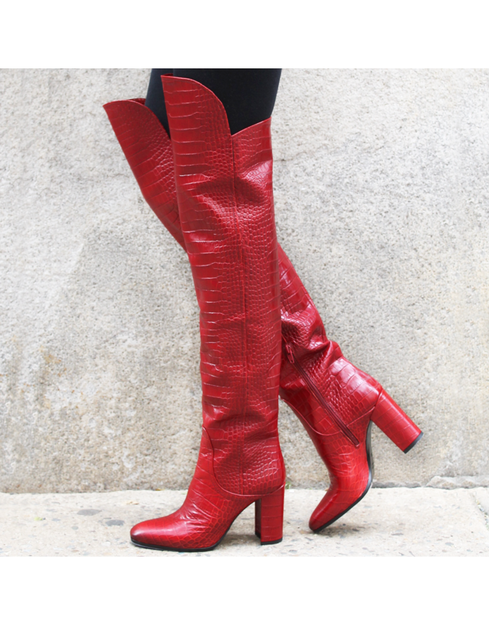 Strategia Strategia Red Croco Over The Knee Boot 4600