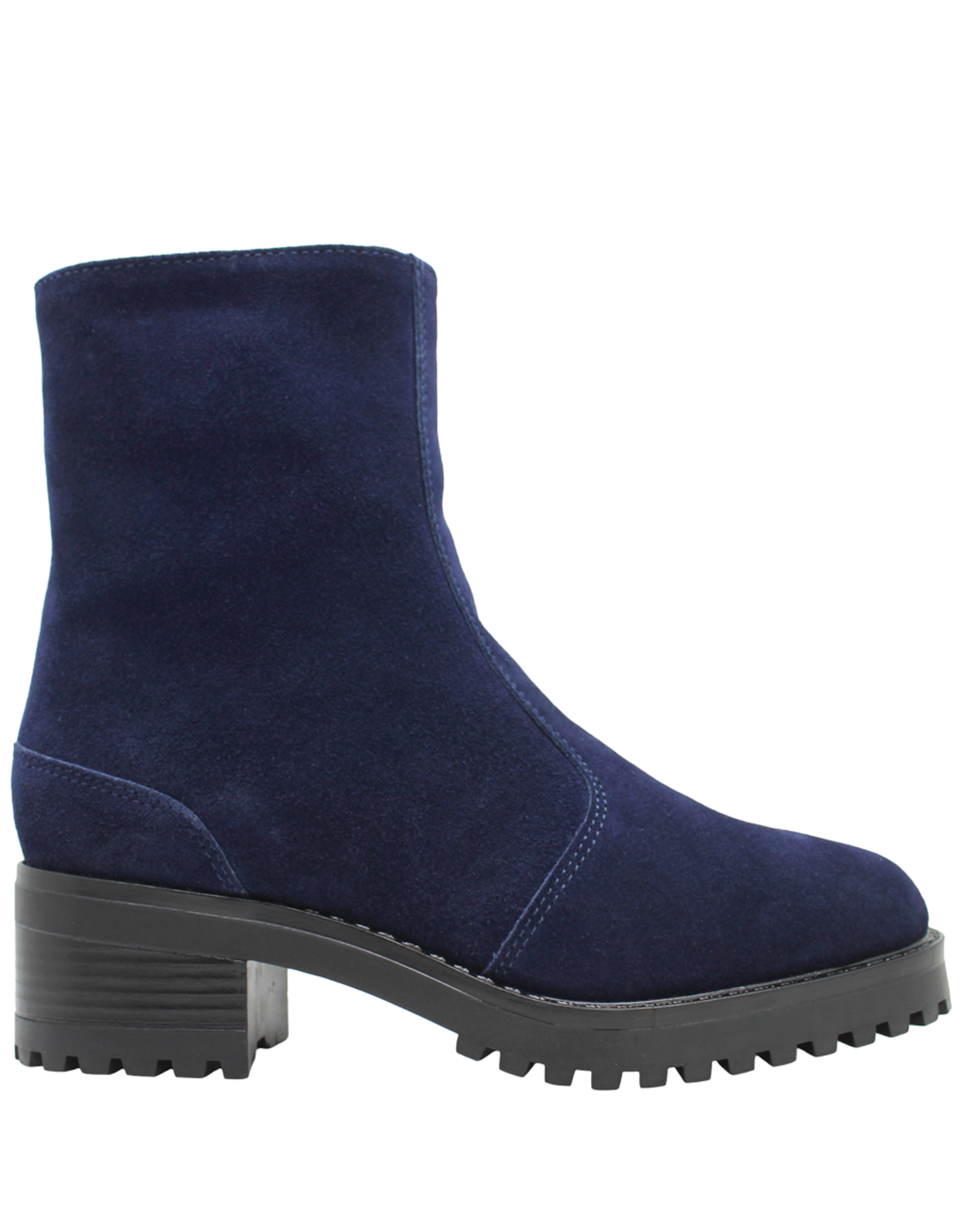 PalmrothOriginal PalmrothOriginals Blue Suede Side Zipper Waterproof Boot Low Heel 8316