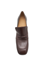 MaraBini MaraBini  Bordo Square Toe Loafer With Medium Heel 7404