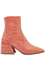Elena Iachi ElenaIachi Rose Croco Square Toe Ankle Boot With Side Zipper 1945