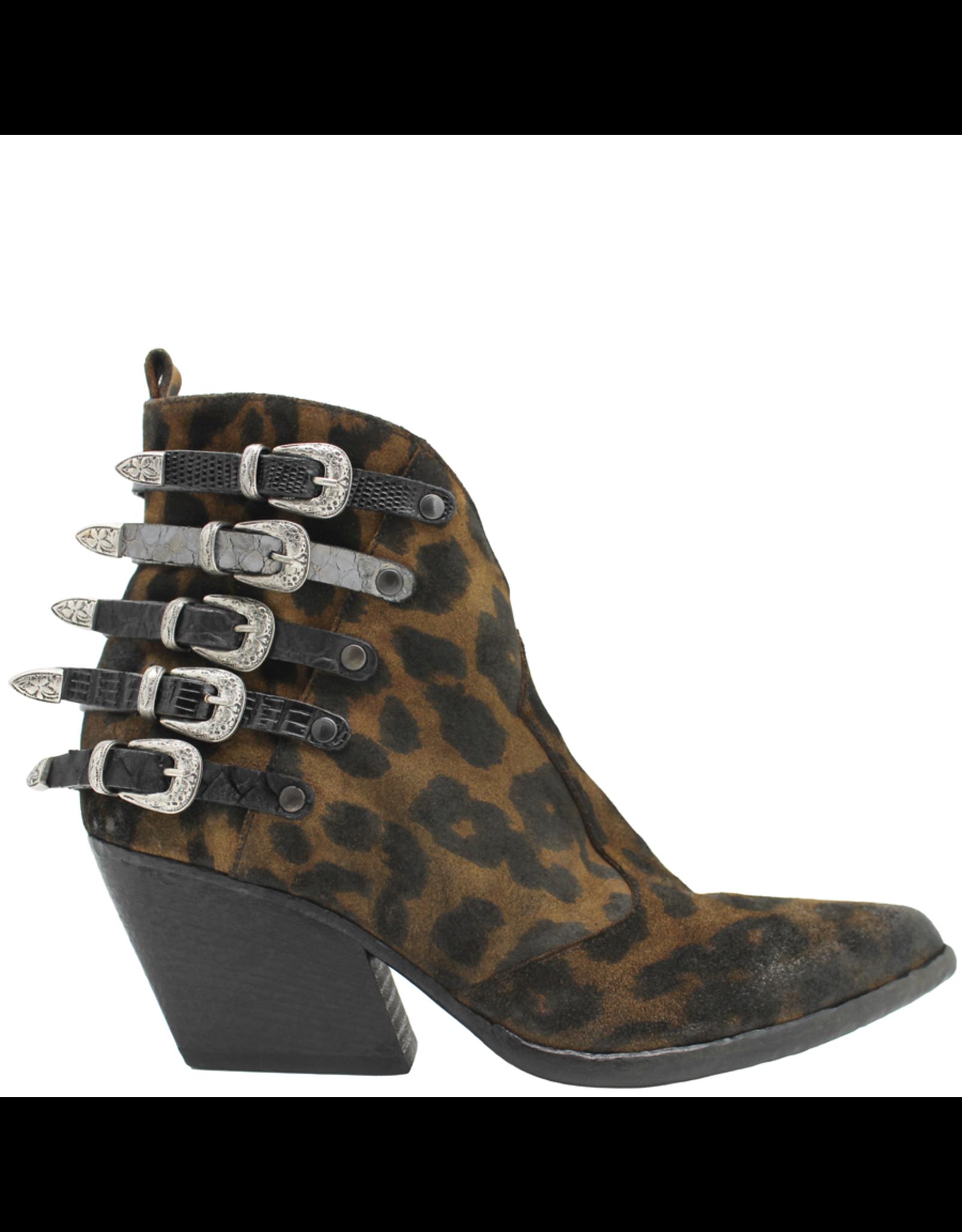 Elena Iachi ElenaIachi Leopard Print Western Ankle Boot 2045
