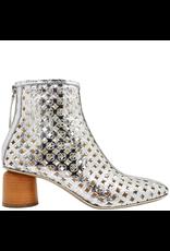 Halmanera Halmanera Silver Laser Cut Sandal Boot With Back Zipper 2002