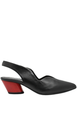 Halmanera Halmanera Black Sling-Back With Red  Heel 2004