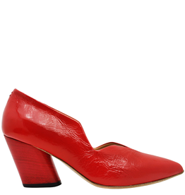 Halmanera Halmanera Red Patent Medium Heel Pump 2008