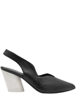 Halmanera Halmanera Black Sling Back With White Contrast Heel 2007