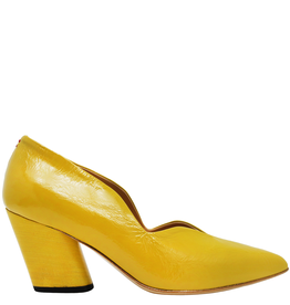 Halmanera Halmanera Yellow Patent Medium Heel Pump 2008