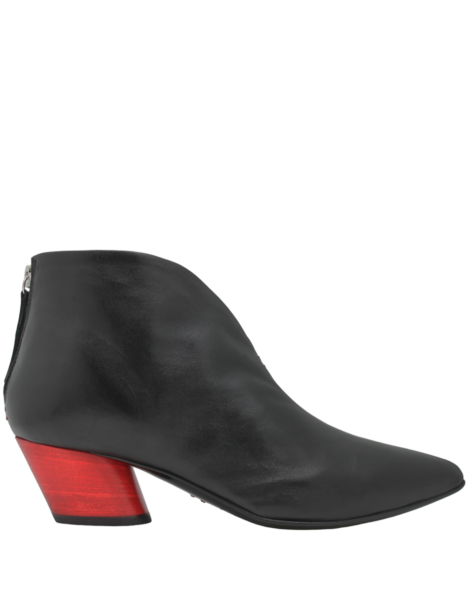 Halmanera Halmanera Black Point Toe Ankle Boot Red Heel 2014