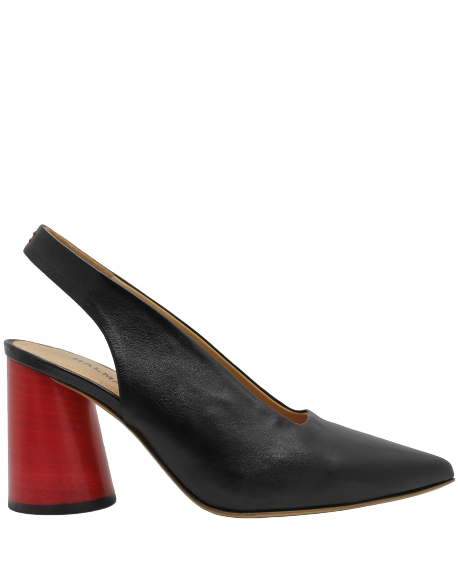 Halmanera Halmanera Black Point Toe Sling Back With Red Heel 2010
