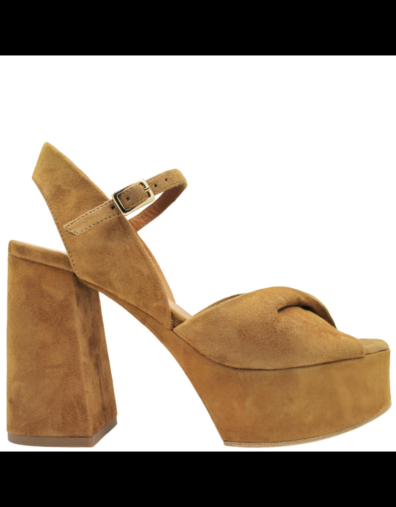 VicMatie VicMatie Biscuit Suede Twist Platform Sandal 8572