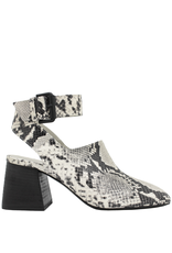 VicMatie VicMatie Black White Snake Print Sandal 8422