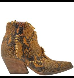 Elena Iachi ElenaIachi Camel Orange Woven Snake Print Western 2251