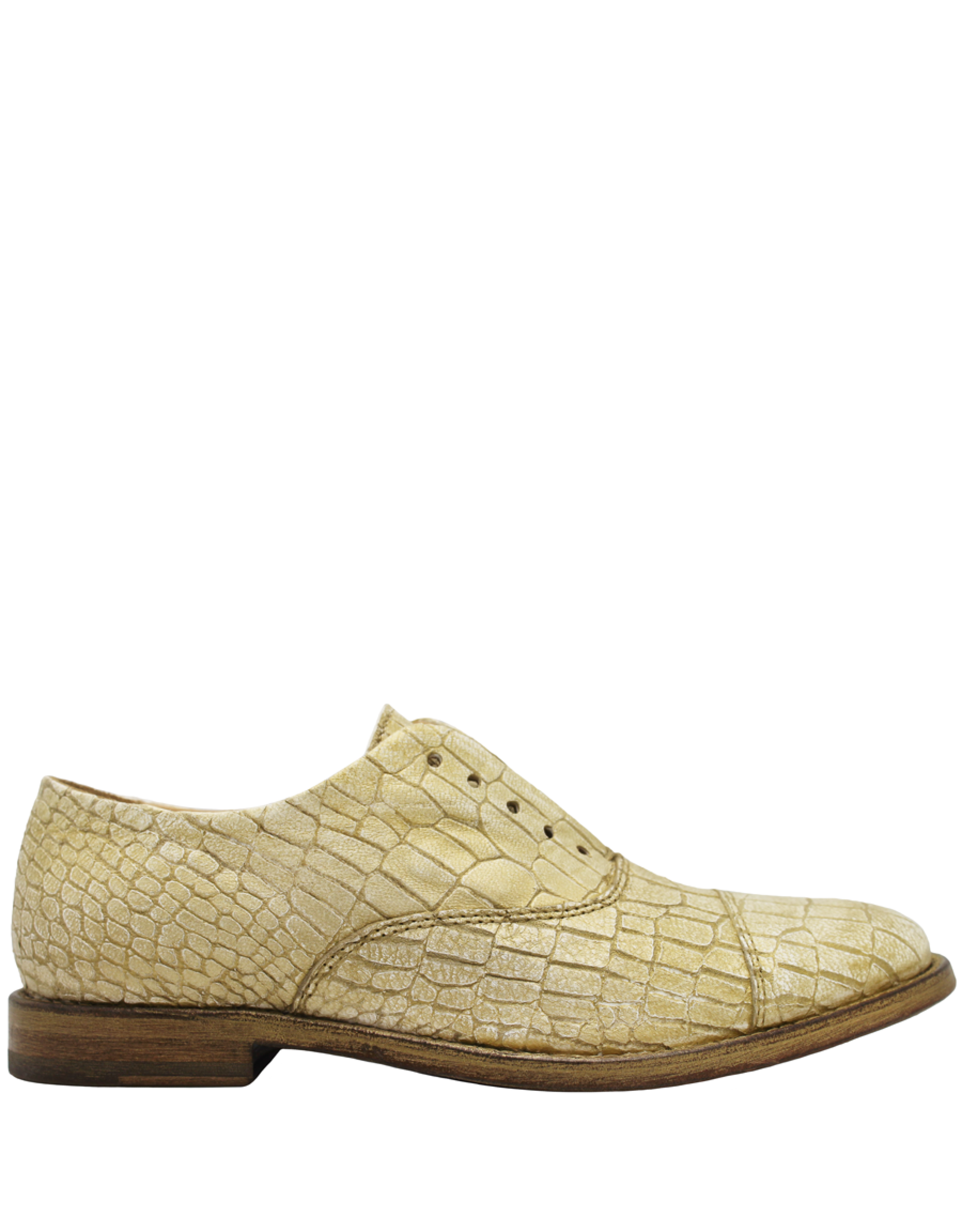 Moma Moma Gold Wash Croco Enbossed Calf No Lace Oxford 9091
