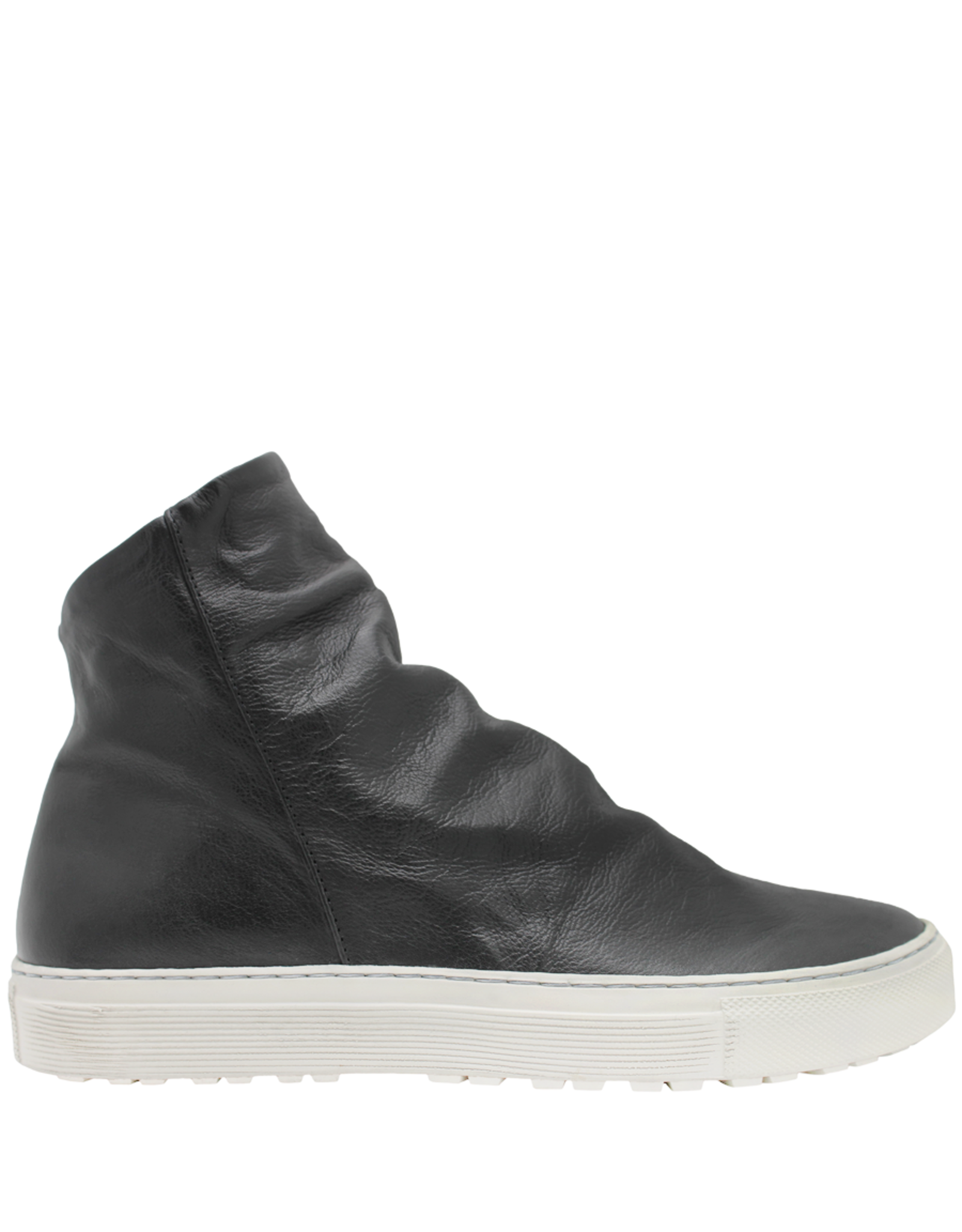Fiorentini+Baker Fiorentini+Baker Black Calf Side Zipper High Top Sneaker Biel