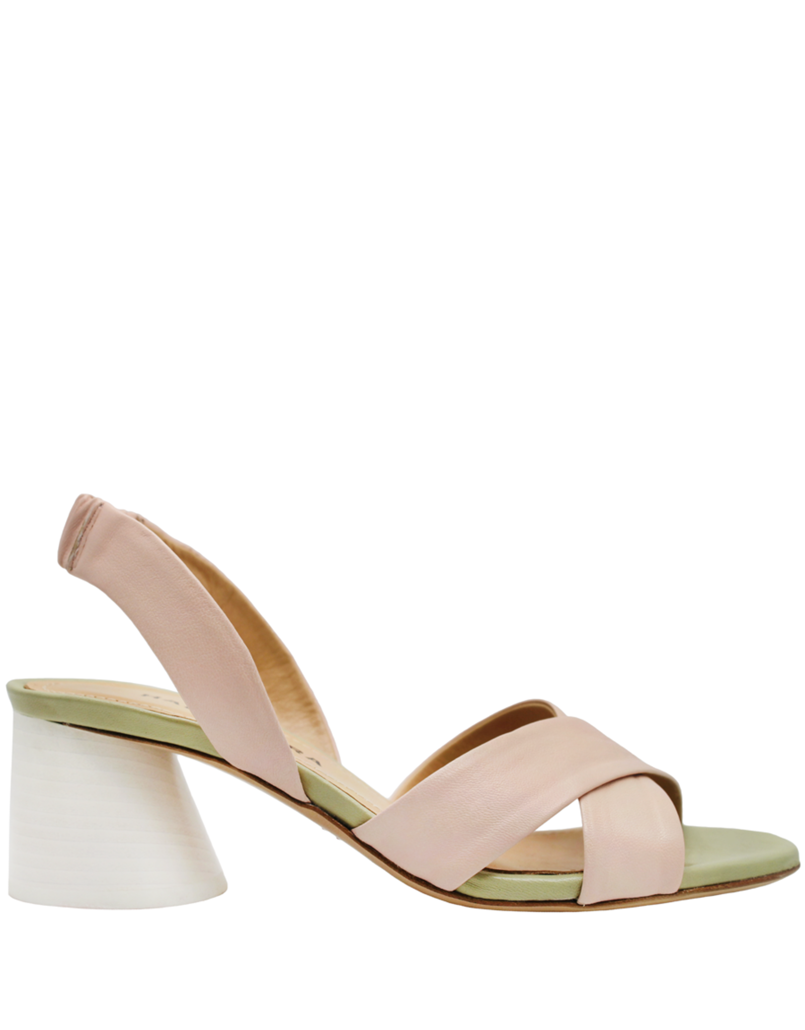 Halmanera Halmanera Peony Criss Cross Sandal White Heel 2015