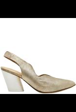 Halmanera Halmanera Platinum Sling Back With White Contrast Heel 2007