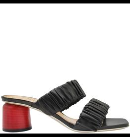 Halmanera Halmanera Black Ruched Double Strap Sandal 2018