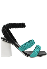Halmanera Halmanera Blue and Black Ankle Strap Sandal 2021
