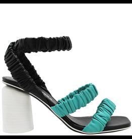 Halmanera Halmanera Blue and Black Ankle Strap Sandal 2021