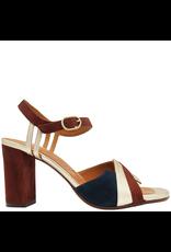 ChieMihara ChieMihara Platinum Indigo With Terra Buckled Sandal Bega