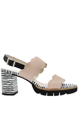 Gadea Gadea Pebble Sling Back Sandal With Zebra Print Heel 1115