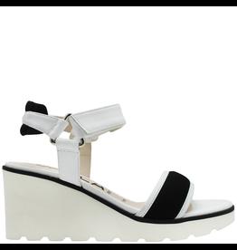 Gadea Gadea White Black Velcro Sandal 1045