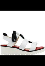 Gadea Gadea White Red Footbed Lace-Up Sandal 1089