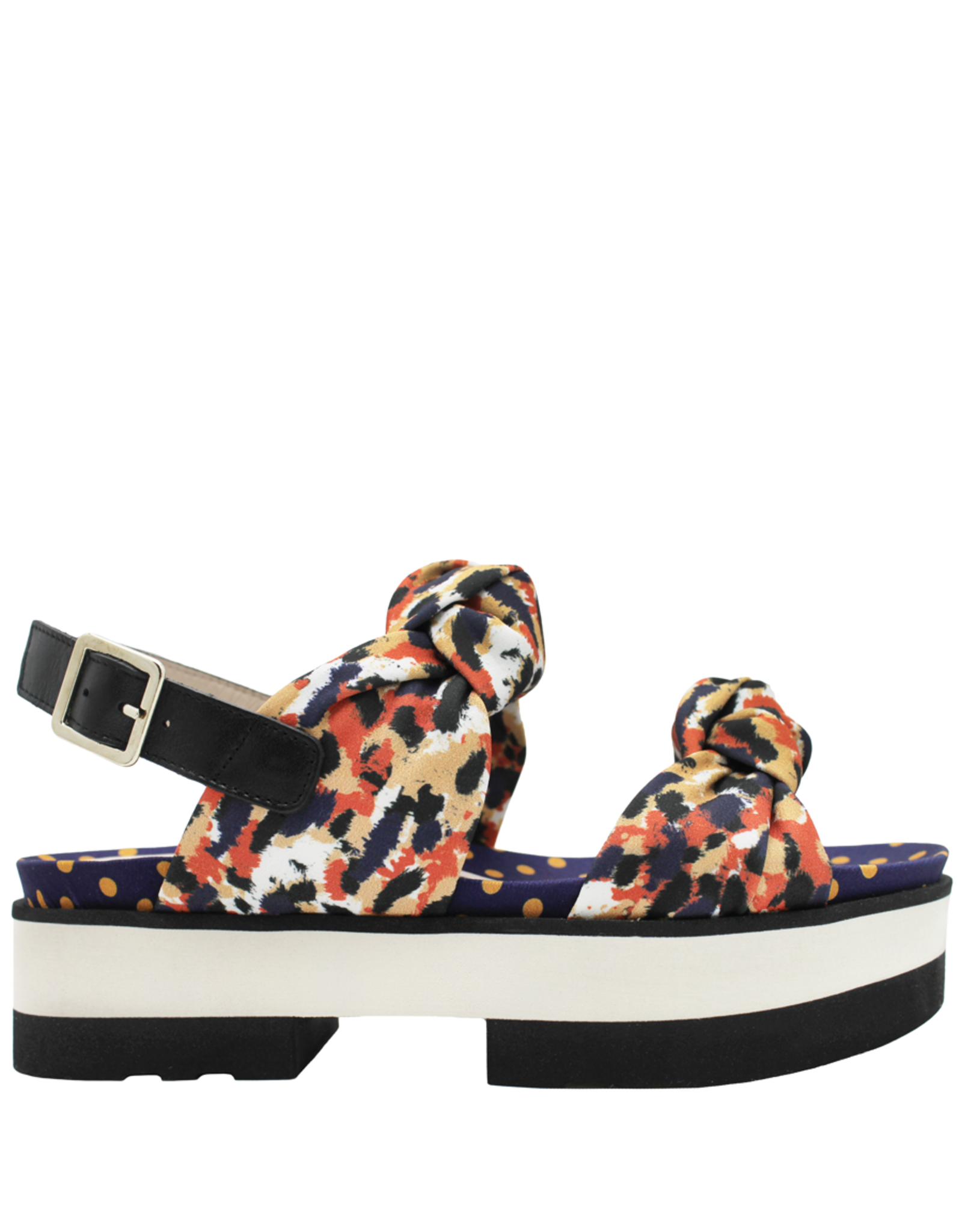 Gadea Gadea Scarf Print Double Knot Sling With Dot FootBed 1099