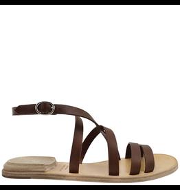 Officine Creative OfficineCreative Brown Strap Flat Sandal Heel On Top Ada