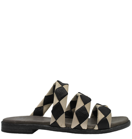 Now Now Black Ecru Three Band Sandal Lily