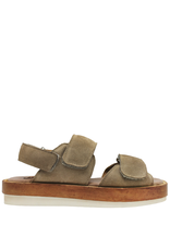 Moma Moma Natural Suede Platform With Velcro Closures 9097