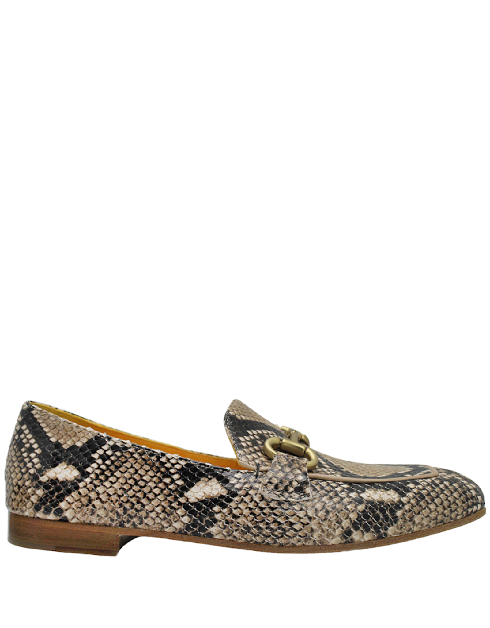 MaraBini MaraBini Tan Python Loafer With Bit 7414