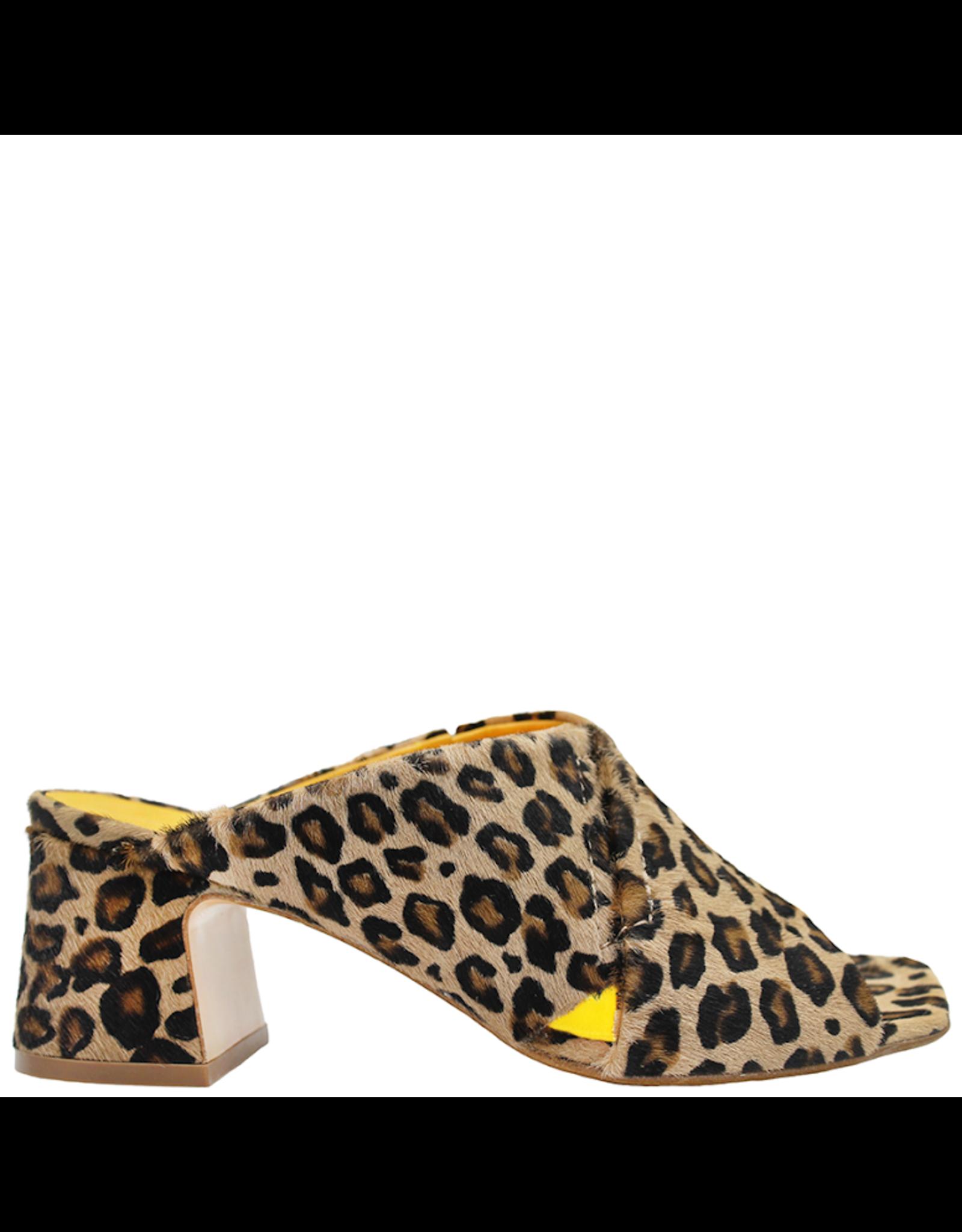 MaraBini MaraBini Cheetah Criss Cross Open Toe Mule 7422 - P-98823